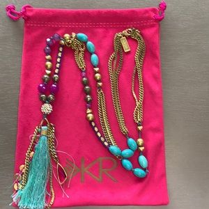 Silpada K&R carnivale brass necklace